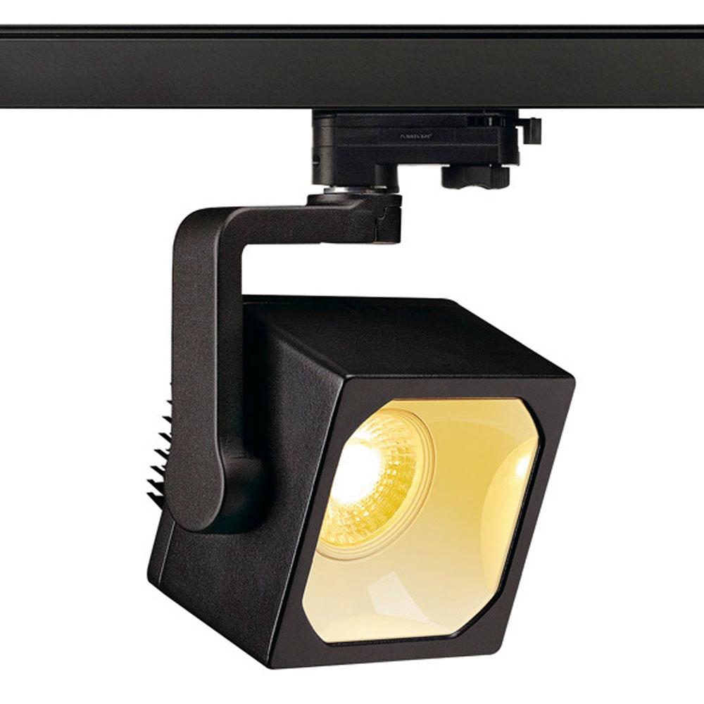 SLV Euro Cube LED Spot 90° inkl. 3P.-Adapter 3000K CRI90 Schwarz 3