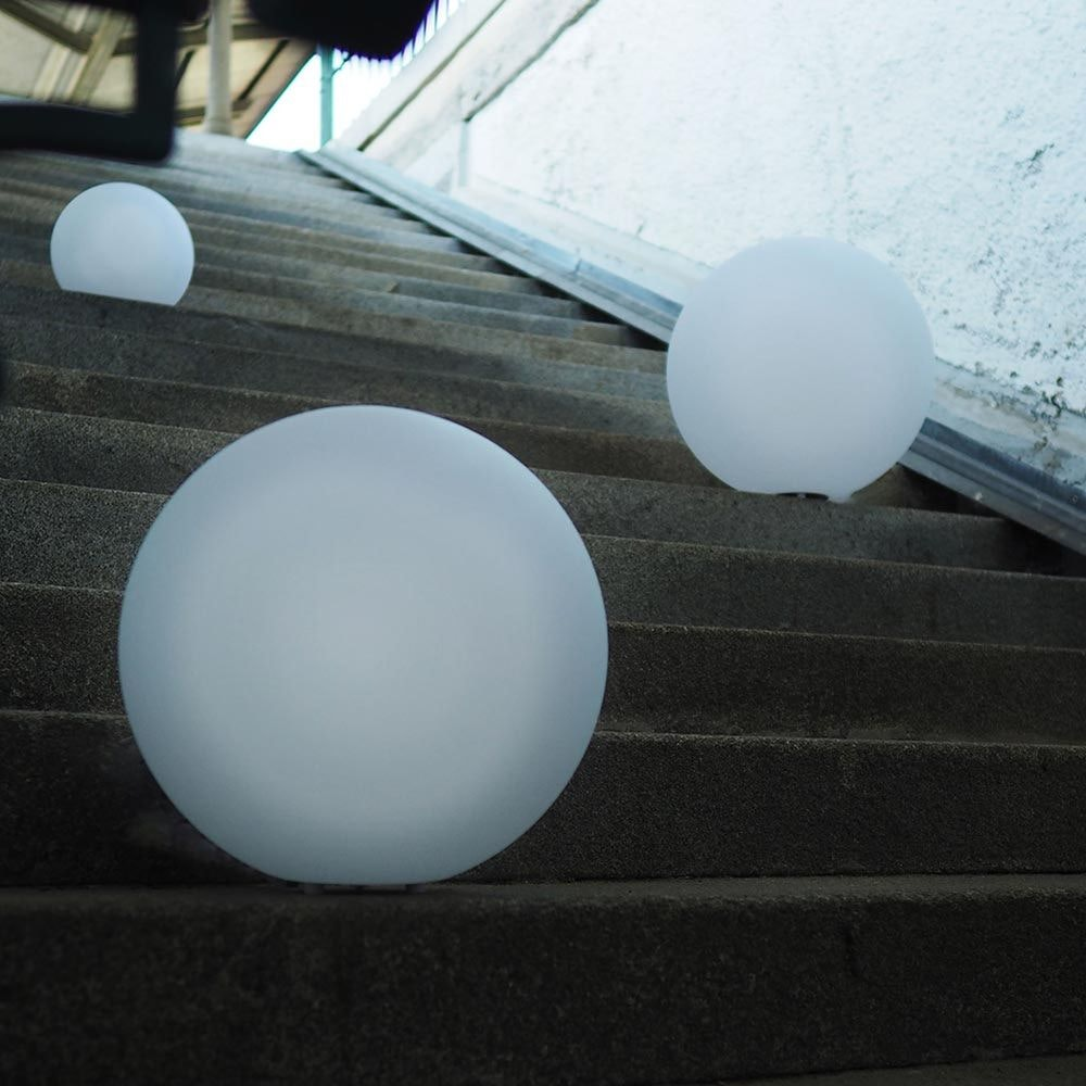 s.LUCE pro Globe+ langlebige Garten Aussenkugel Weiß 14