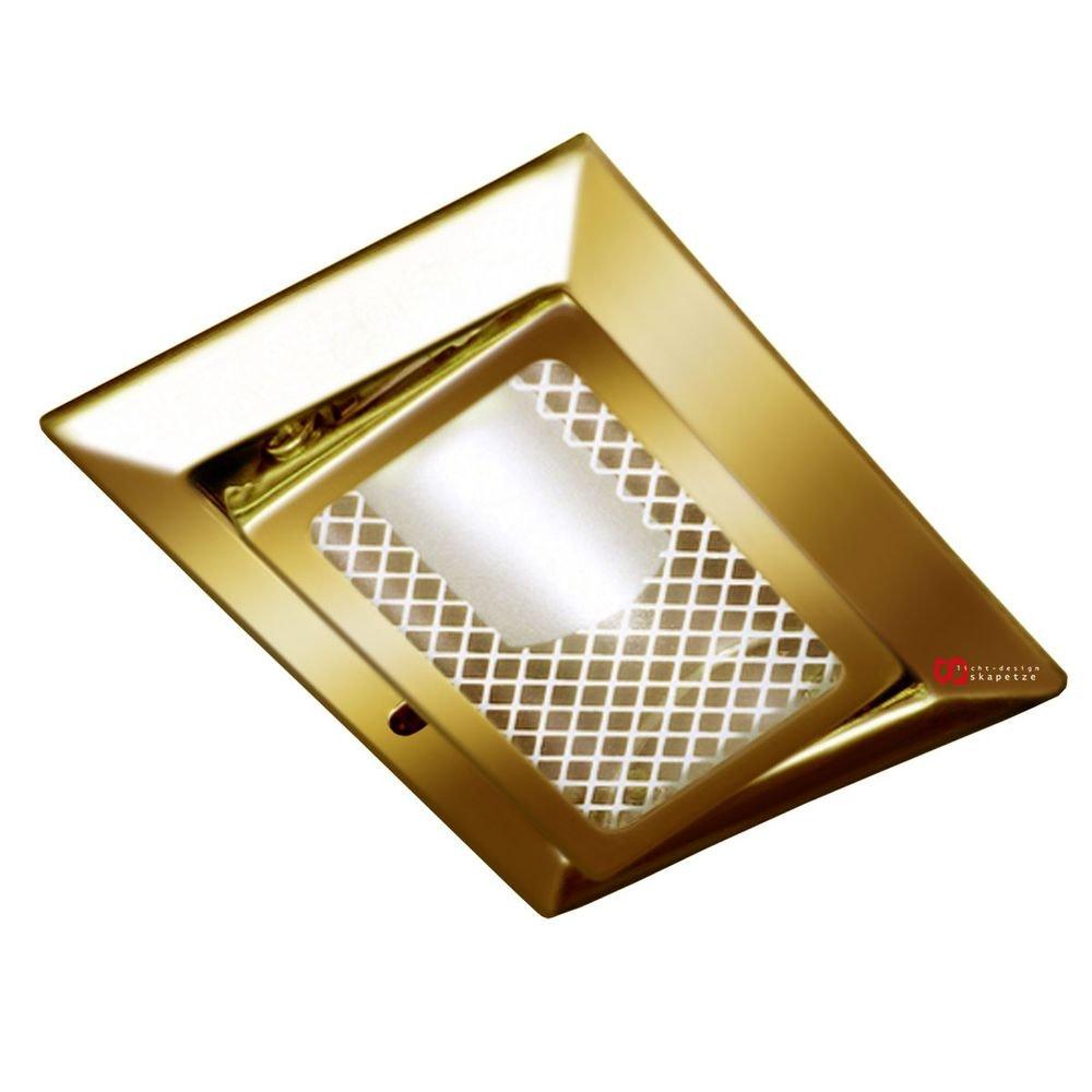 Luk Möbel-Einbaustrahler 12V schwenkbar, goldfarben