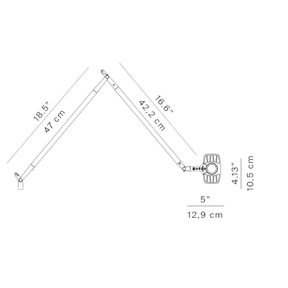Luceplan Otto Watt LED Büro-Tischlampe 3000K thumbnail 5