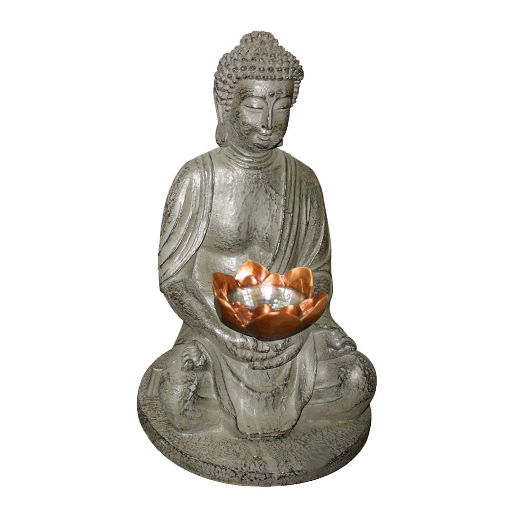 LED Garten Solarleuchte Buddha 30cm 2