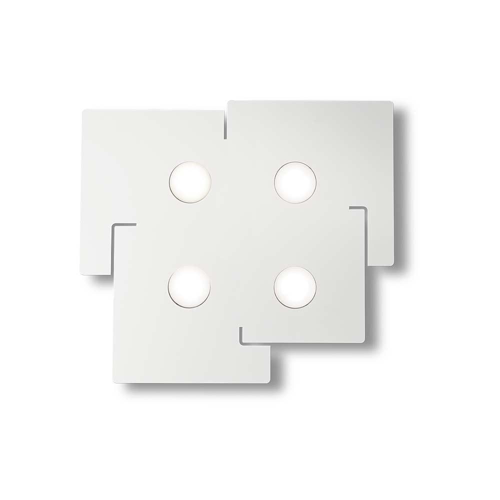 Ideal Lux Deckenleuchte Totem 4-flg. Weiß