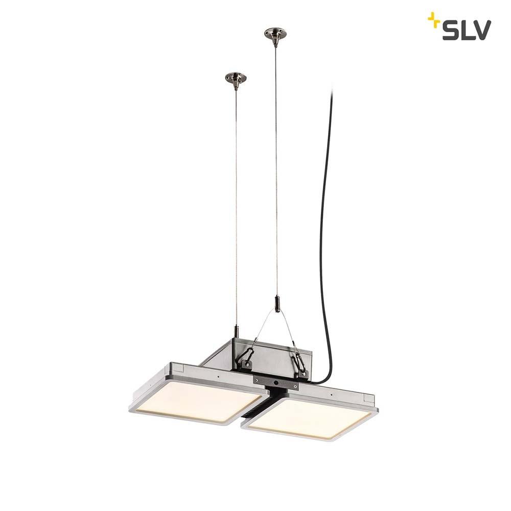 SLV Almino Double LED Aussen-Deckenleuchte Grau IP65 thumbnail 3