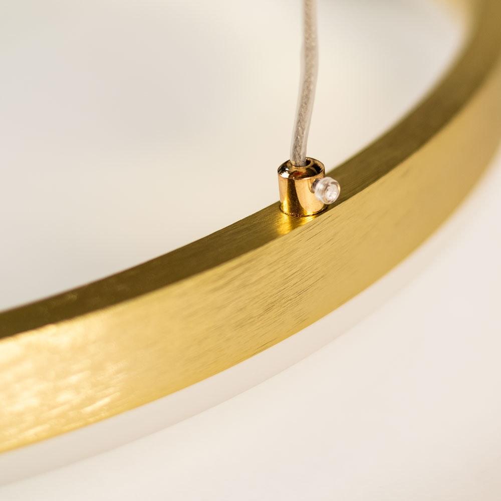 s.LUCE Ring 100 LED Hängelampe Dimmbar 18