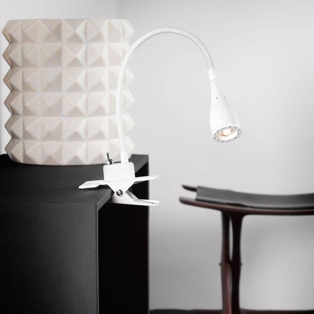 Nordlux Mento LED Klemmleuchte Weiß