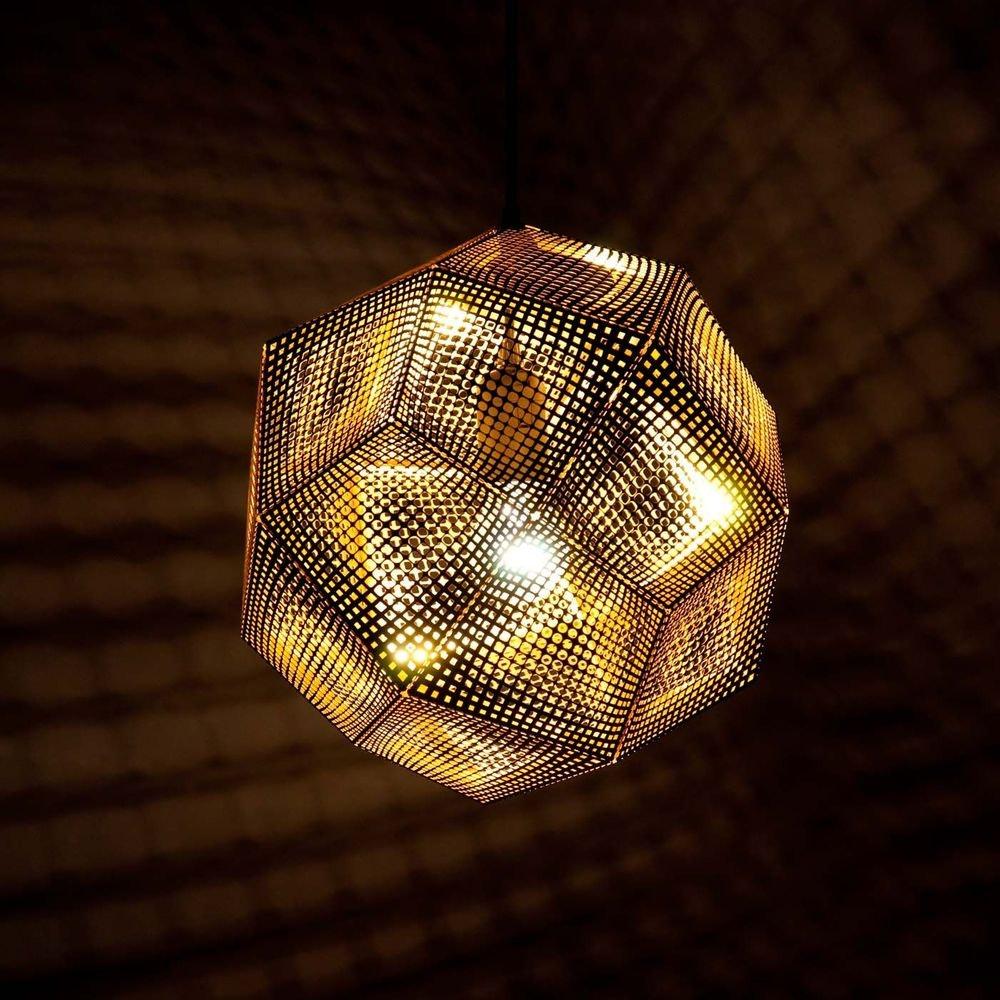 Tom Dixon Etch Metall Hängeleuchte Effektlicht 3