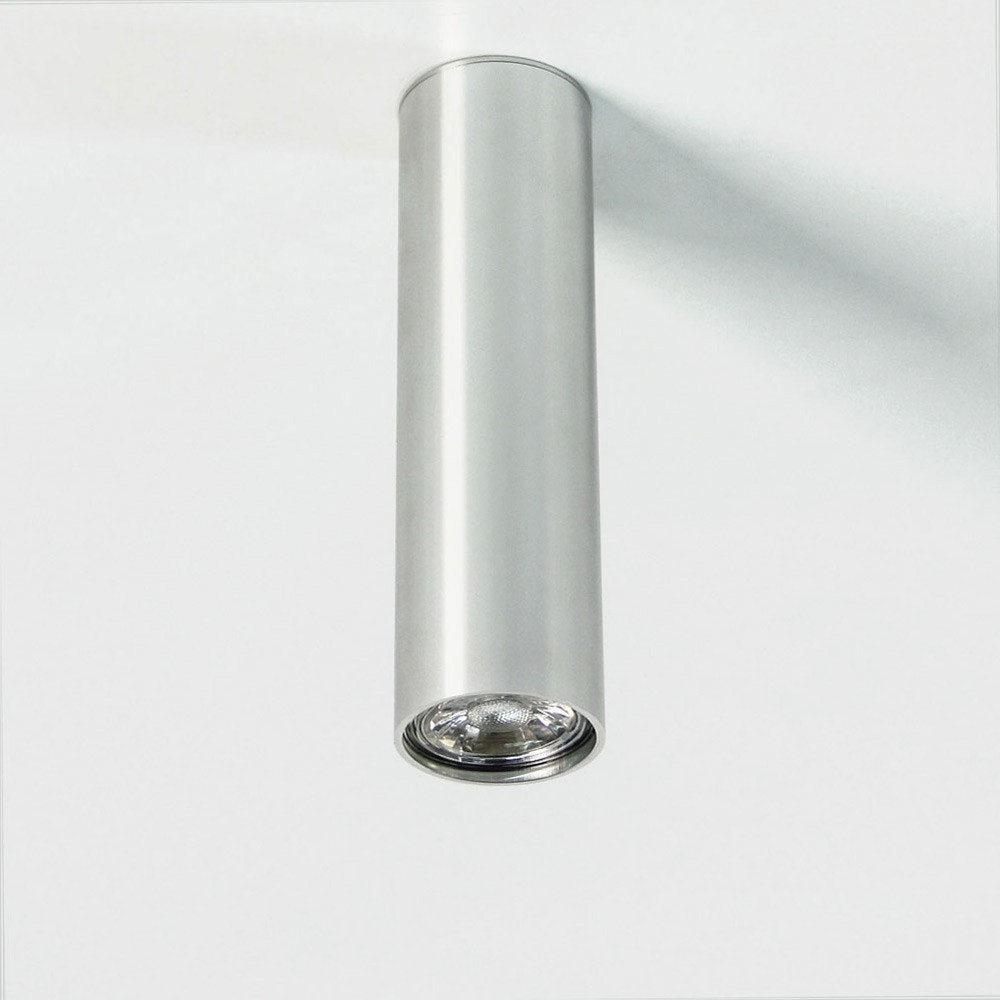 s.LUCE Pole M Aufbau-Deckenleuchte 20cm Alu-Glänzend 2