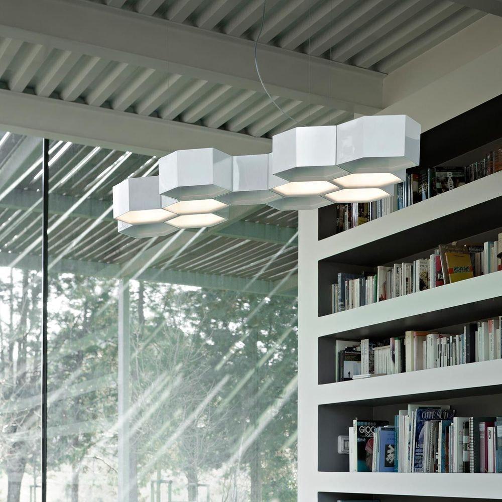 Luceplan Honeycomb LED Hängeleuchte mit 12 Waben 3000K Weiß 1
