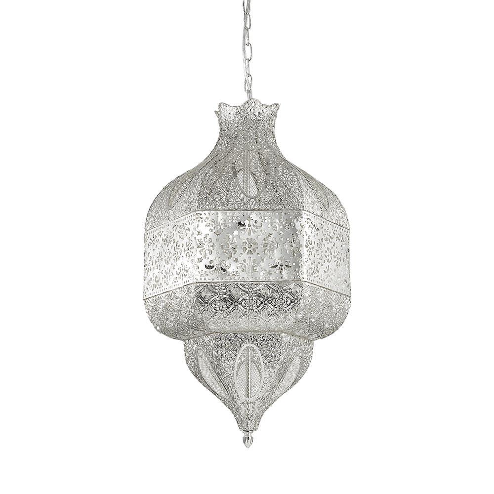 Nawa orientalische Hängeleuchte Ø 41cm Silber 2