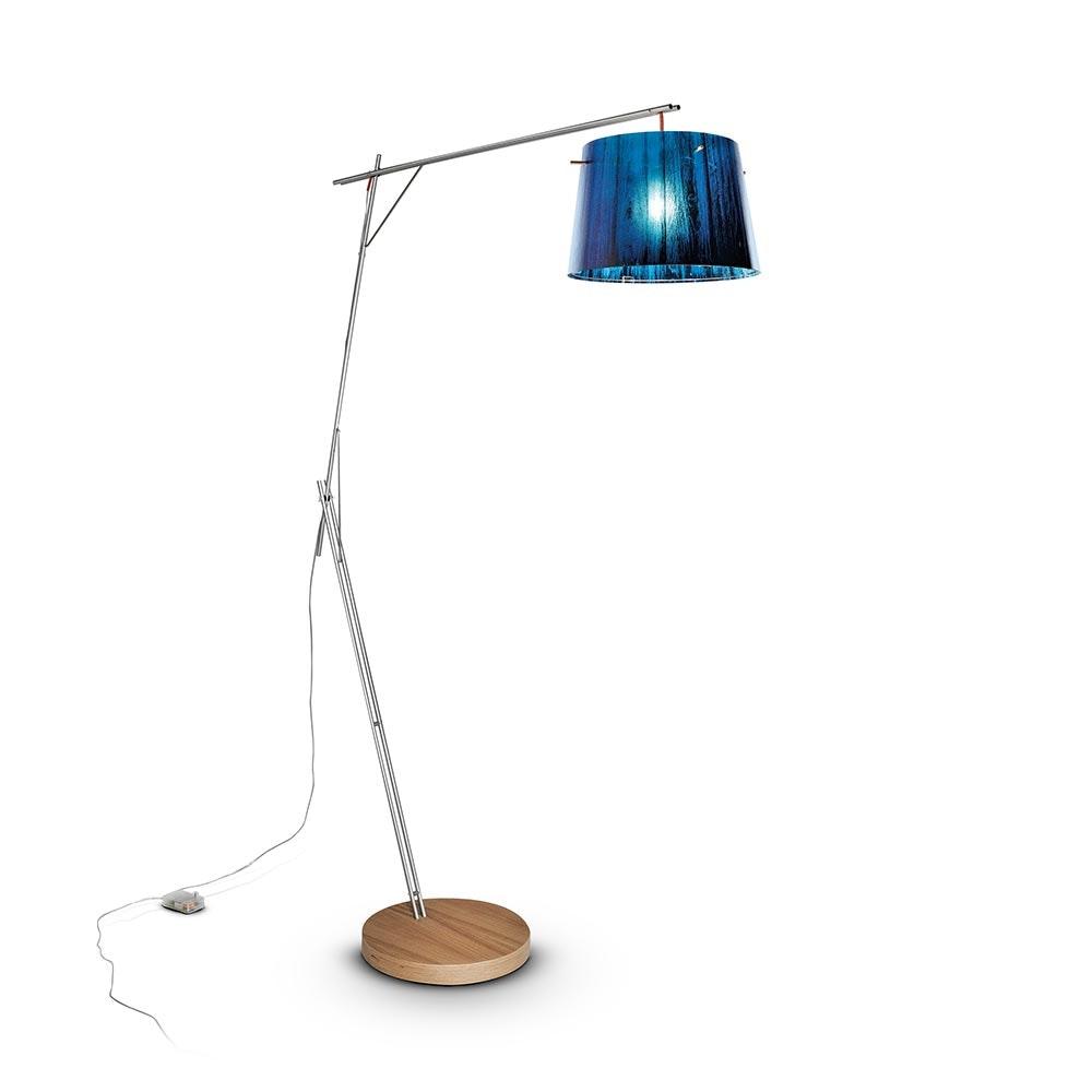 Slamp Stehlampe Woody Blau 1