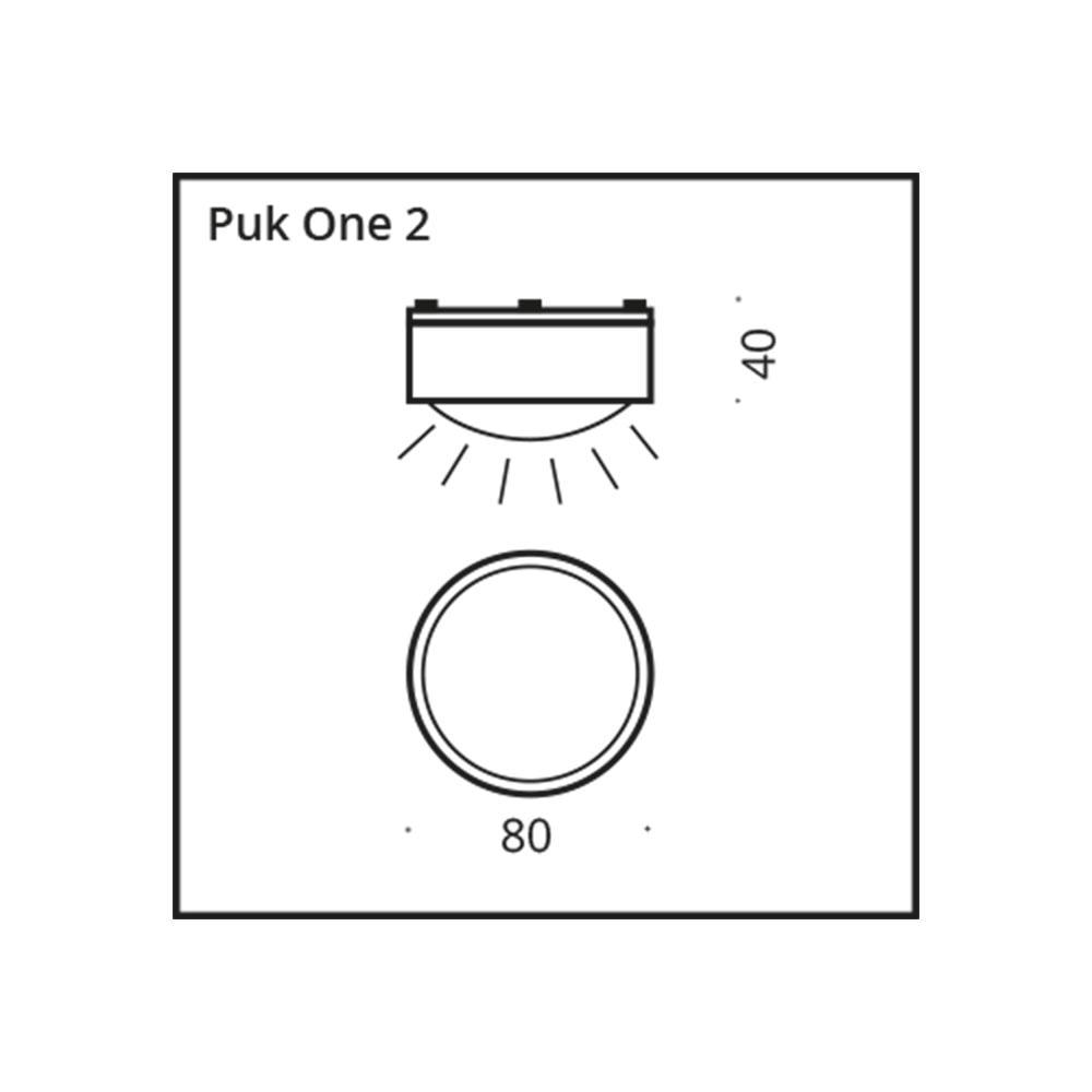 Top Light LED Wand- & Deckenspot Puk One 2 7