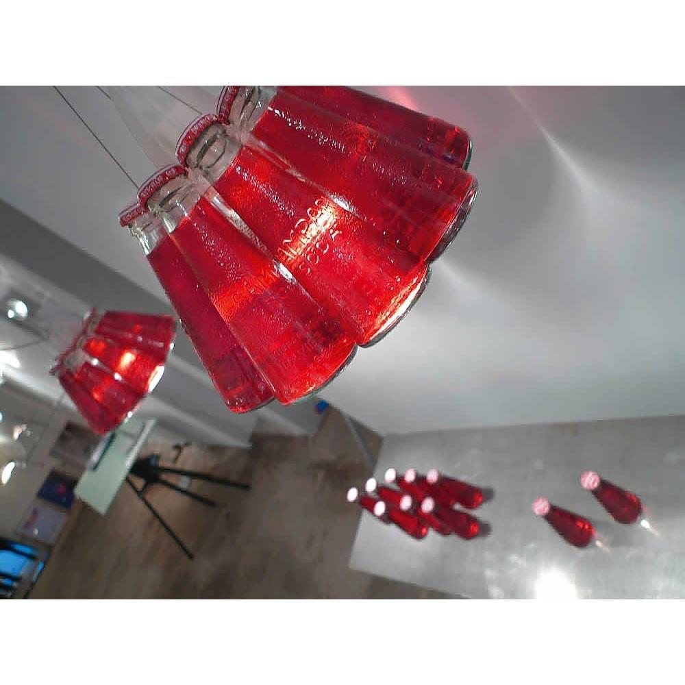Ingo Maurer Hängelampe Campari Light Sonderlänge 400cm 6