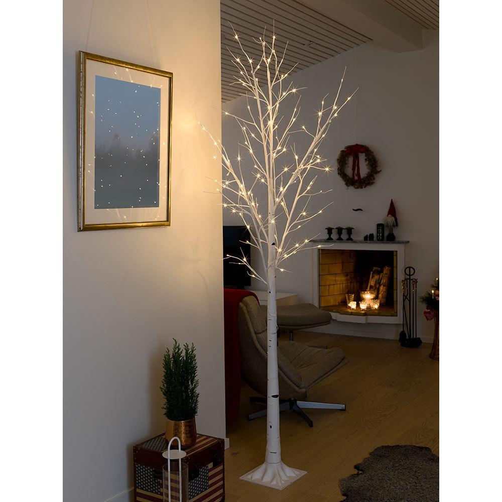 LED Birke groß weiß 120 Warmweiße Dioden 1
