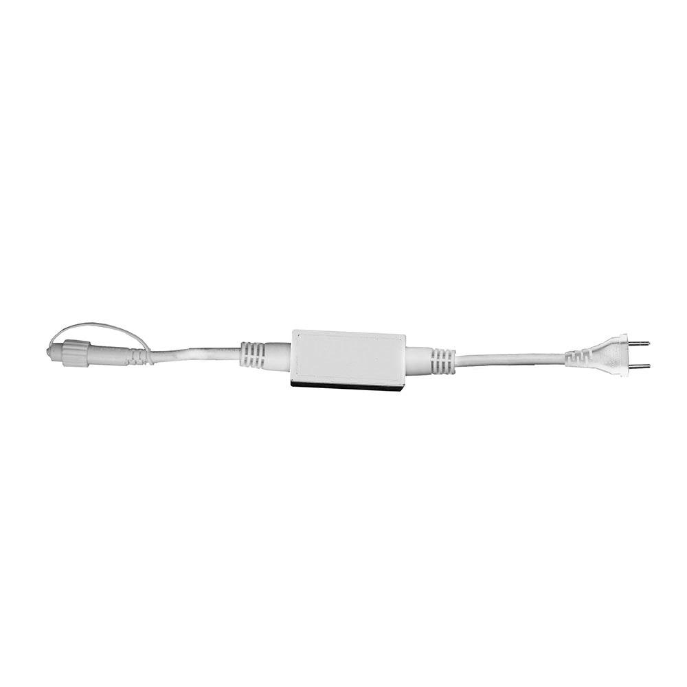 LED System-Anschlußleitung 230V 1,8m Weiß