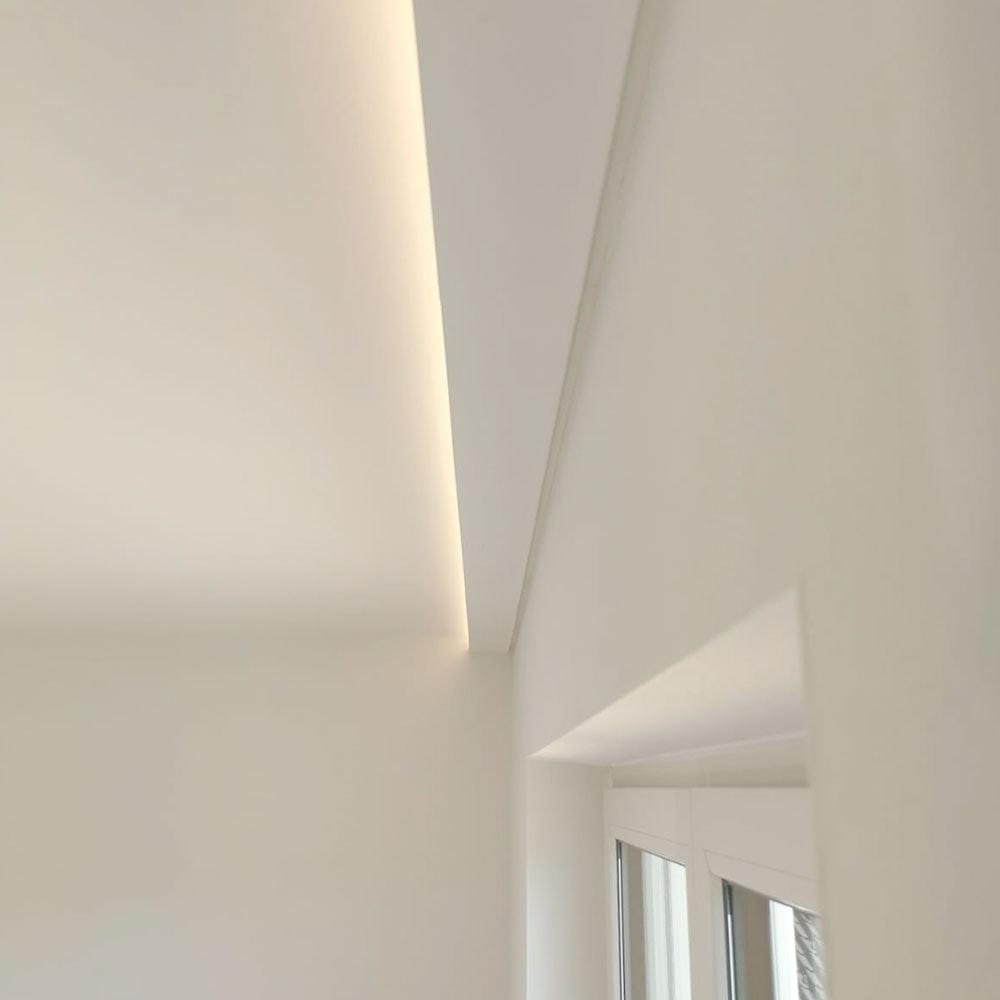 MUSTERSTÜCK 20cm für Dekor-Profil M Stuckleiste indirekt Wand oder Decke