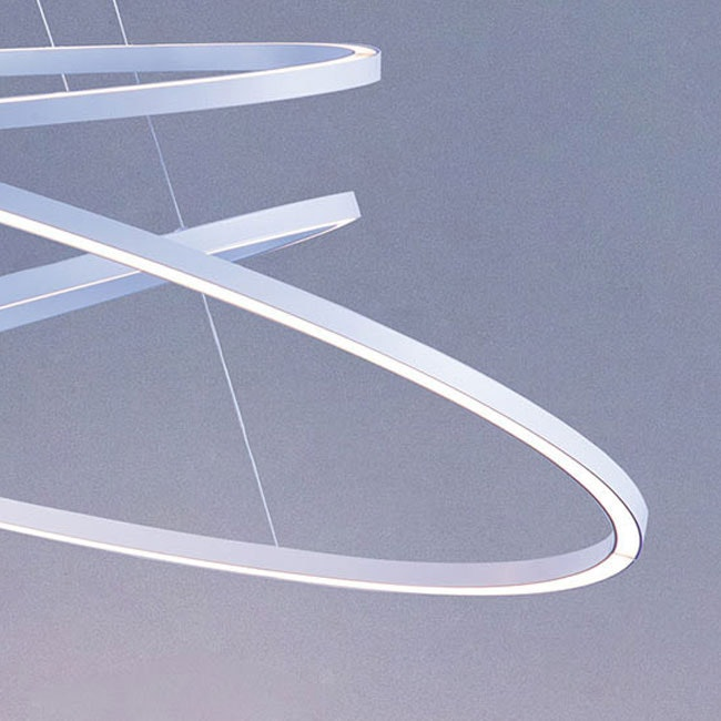 Nemo Ellisse Triple LED Hängelampe 3 Ringe thumbnail 3