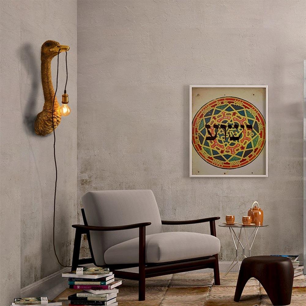 Design Wandleuchte Franz Josef in Straußenform mit Schalter thumbnail 6
