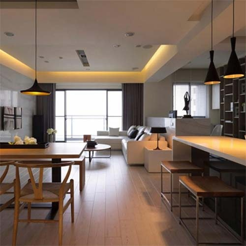 Wohnraum Lichtplanung