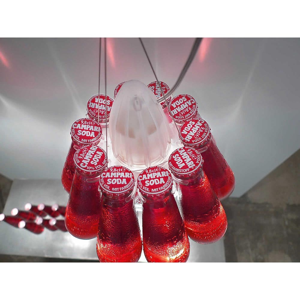 Ingo Maurer Campari Light Pendelleuchte Rot 5