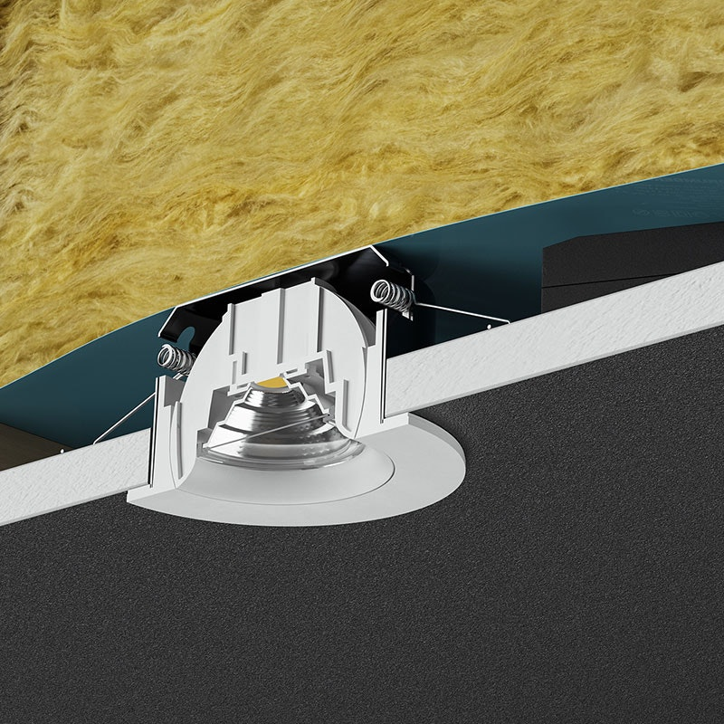 Brumberg LED Decken-Einbauleuchte Indiwo83 Nickel-Matt dim2warm 3