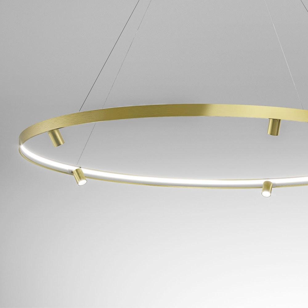 Panzeri Arena LED-Ring Pendelleuchte mit Spots thumbnail 4