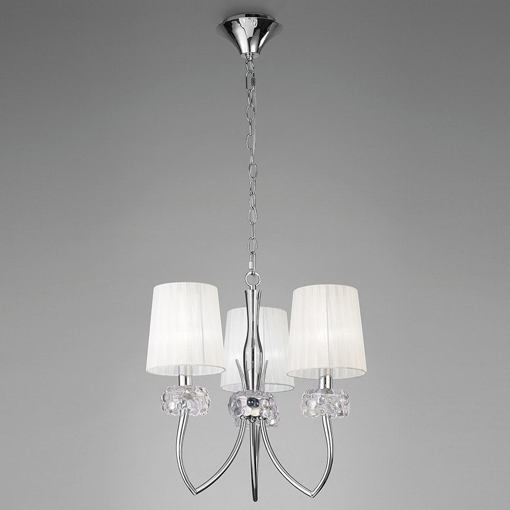 Mantra Loewe 3-flammige Pendelleuchte mit 3 Lampenschirmen 1