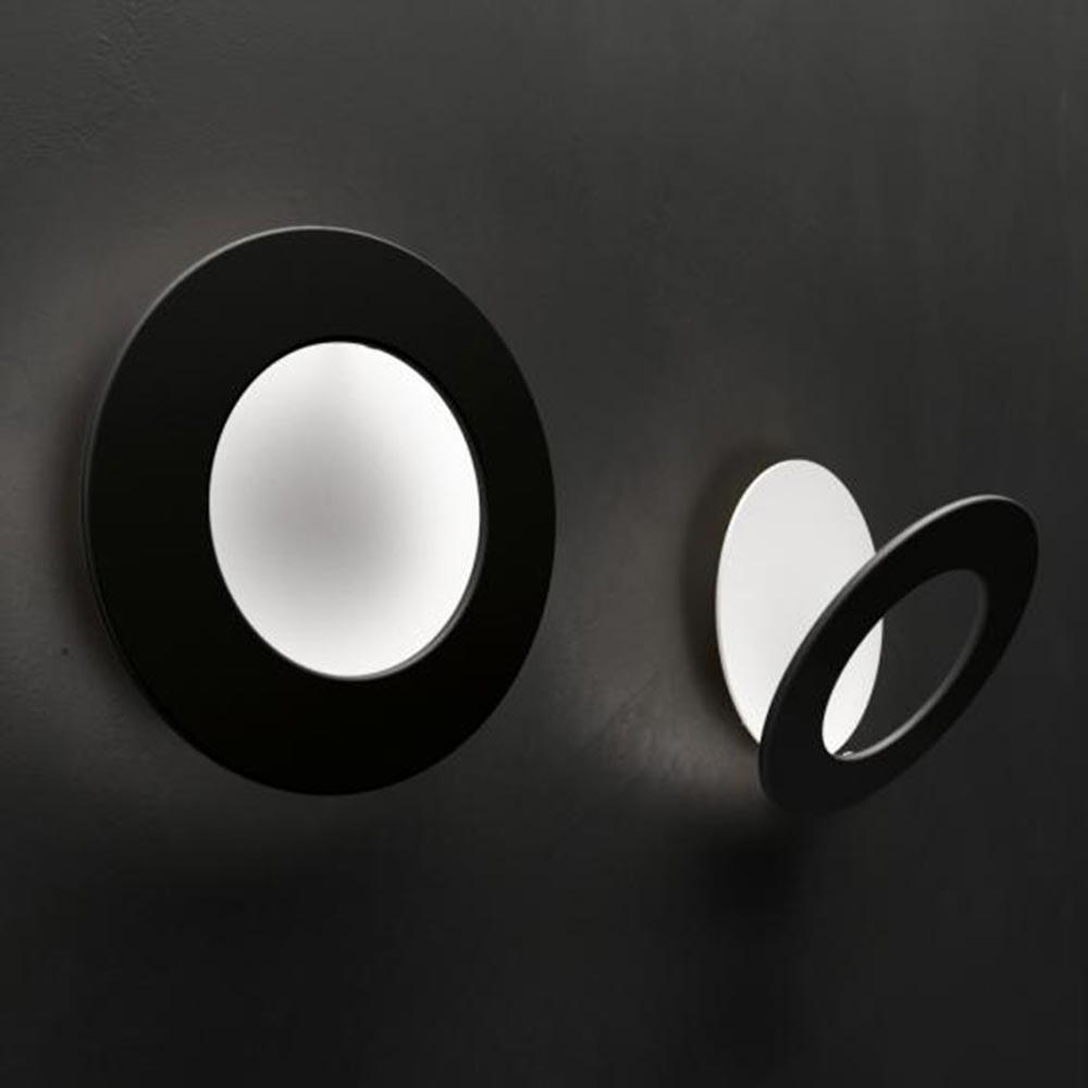Icone LED Wandleuchte Vera Ø 31cm Weiß, Schwarz