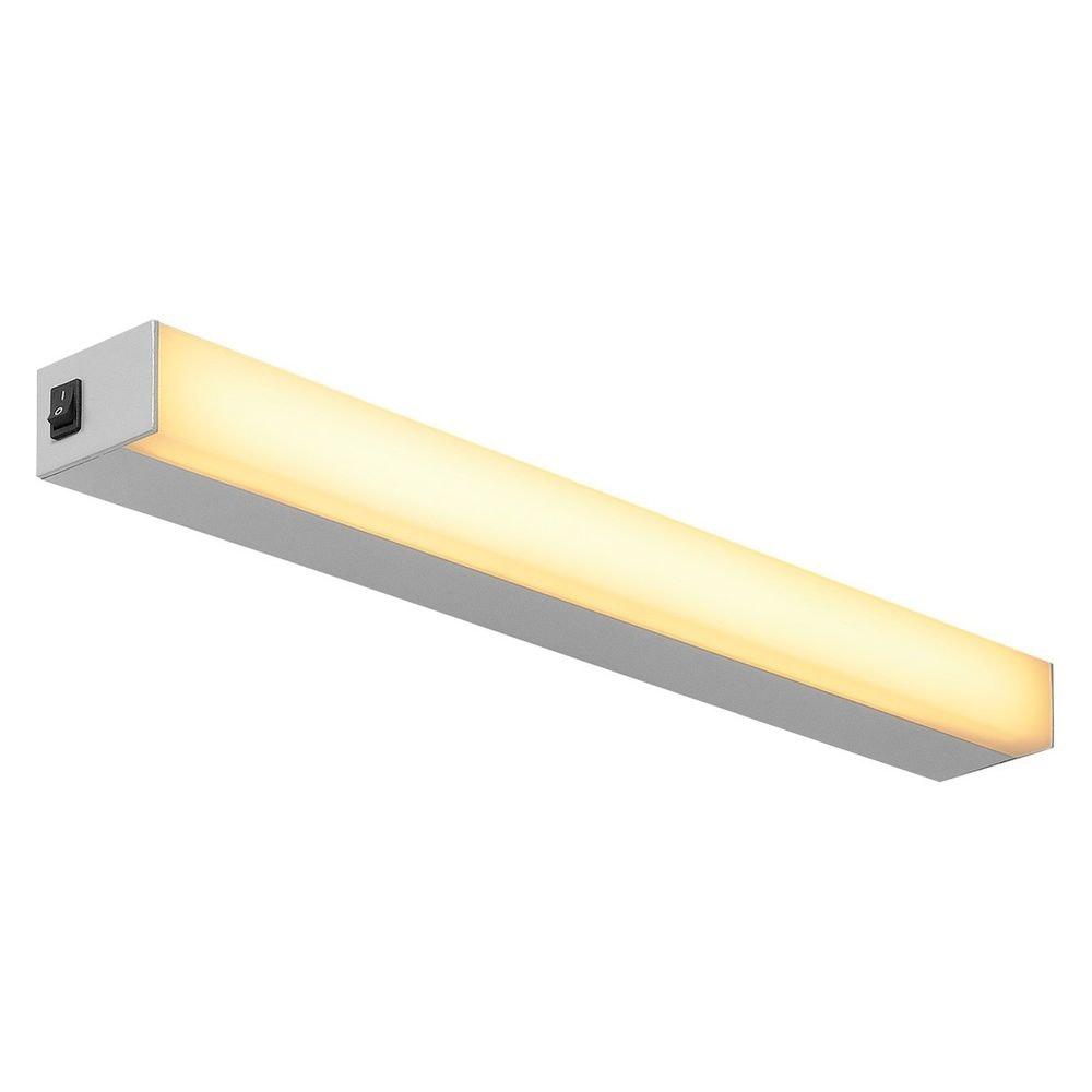 SLV Sight LED Wand- und Deckenleuchte mit Schalter 60cm Silber 1