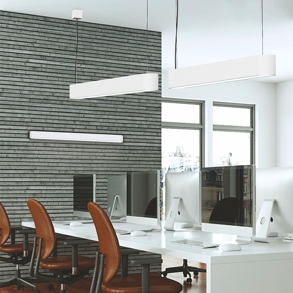 Licht-Trend LED Deckenleuchte Talu 90cm 1500lm Weiß 2