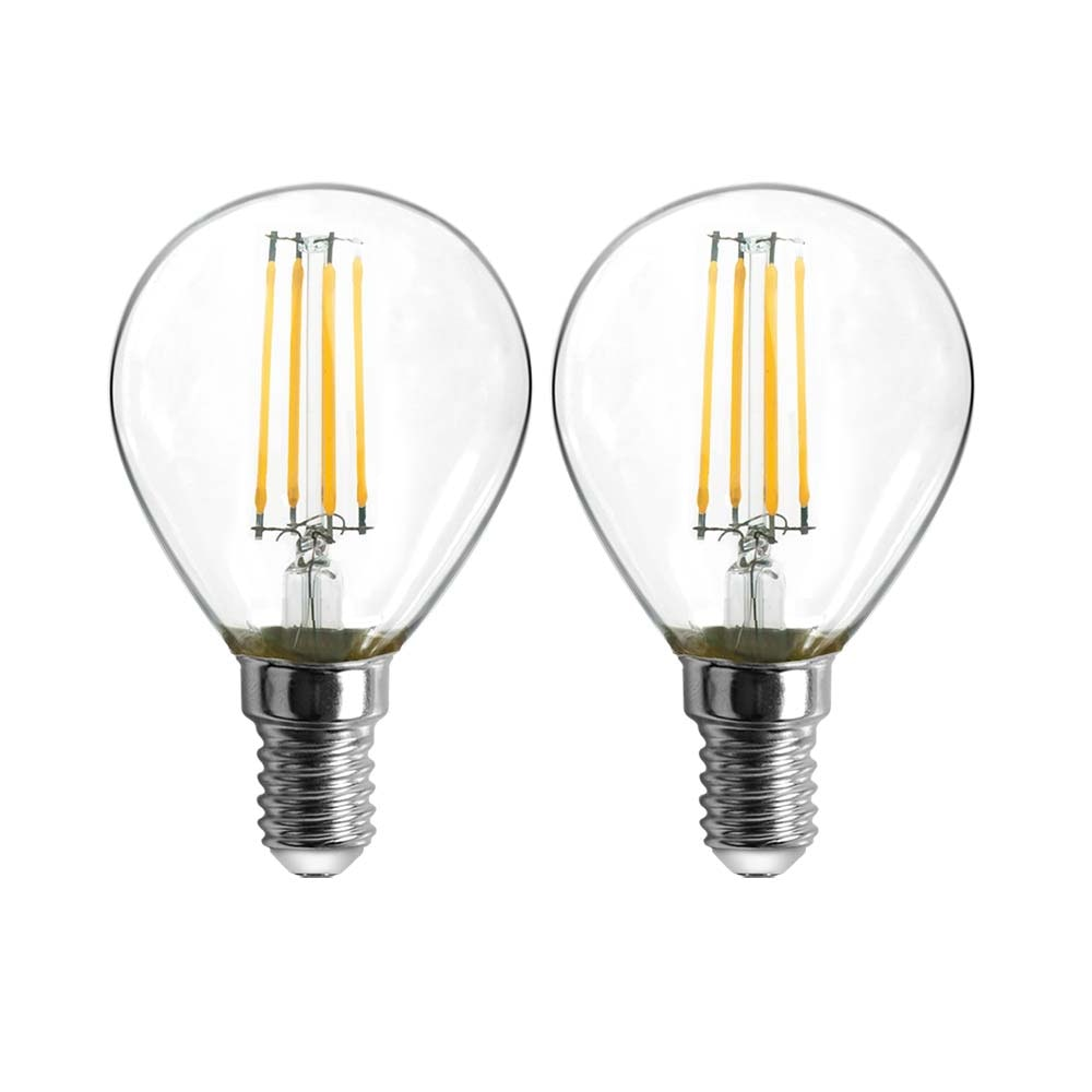 E14 Filament LED 2er-Set 400lm 4W Warmweiß 1