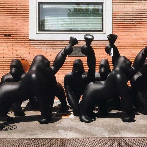 Qeeboo Kong XL Bodenleuchte Gorilla 9