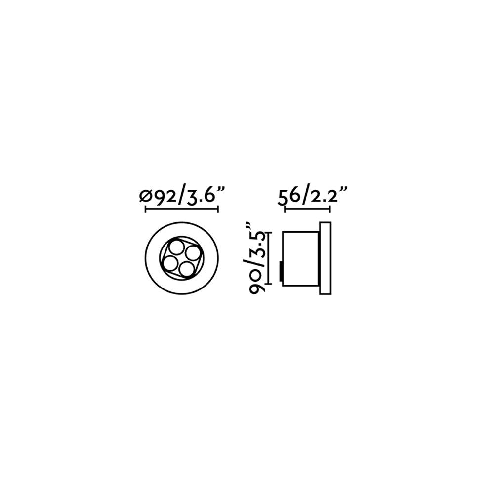 Tras Outdoor LED Einbaustrahler IP67 Schwarz 2