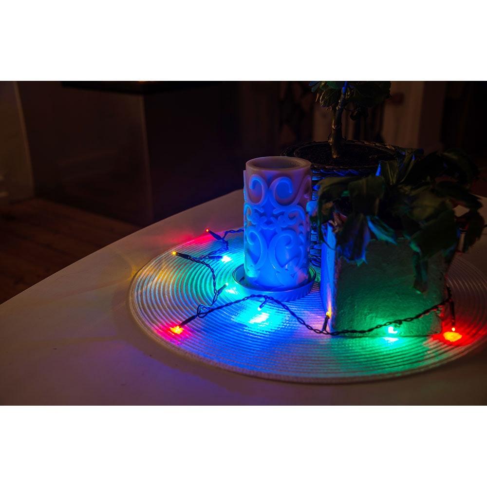 Micro LED Lichterkette verschweißt 50 bunte Dioden 1