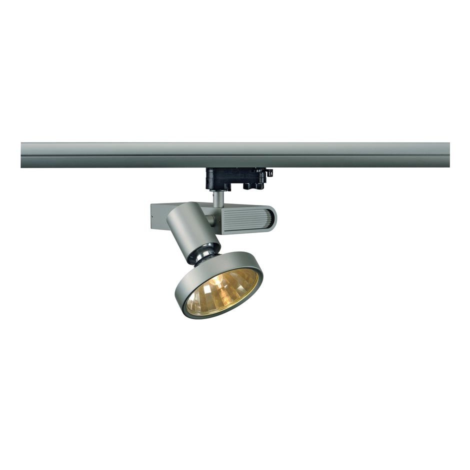 SLV SLEEK Spot G12 Silbergrau 70W inkl. 16° Reflektor und 3P.-Adapter 1