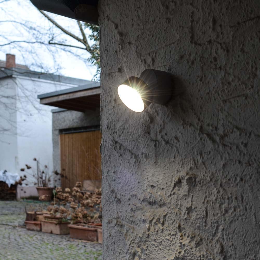 Trumpet L 90° schwenkbare LED-Außenwandleuchte IP54 Anthrazit thumbnail 4