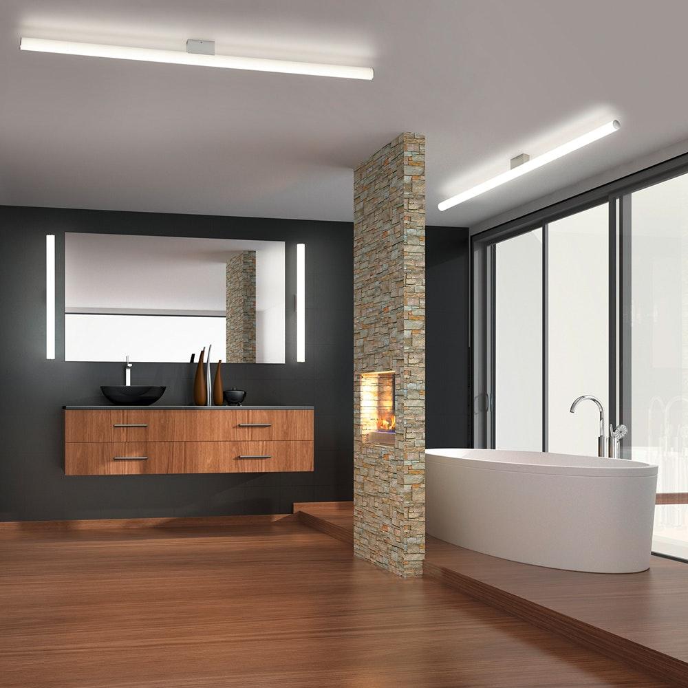 Helestra LED Bad Spiegelleuchte Loom 20cm 20lm chrom Warmweiß