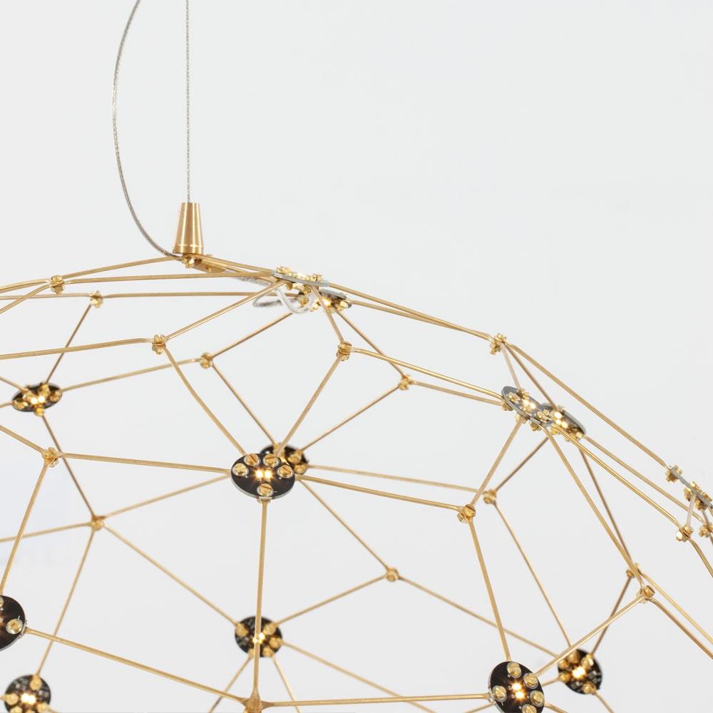 Nova Luce Sole LED-Drahtkugel Hängelampe Goldfarben thumbnail 6