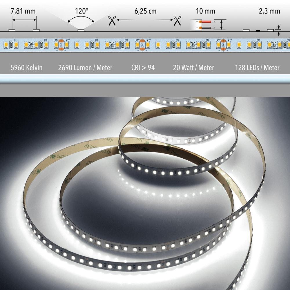 5m LED-Strip 20 W/m CRI 94 Kaltweiß IP20 1