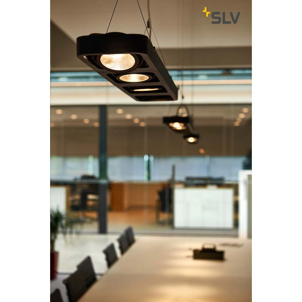 SLV Lynah LED Pendelleuchte Quad Schwarz 3000K 3