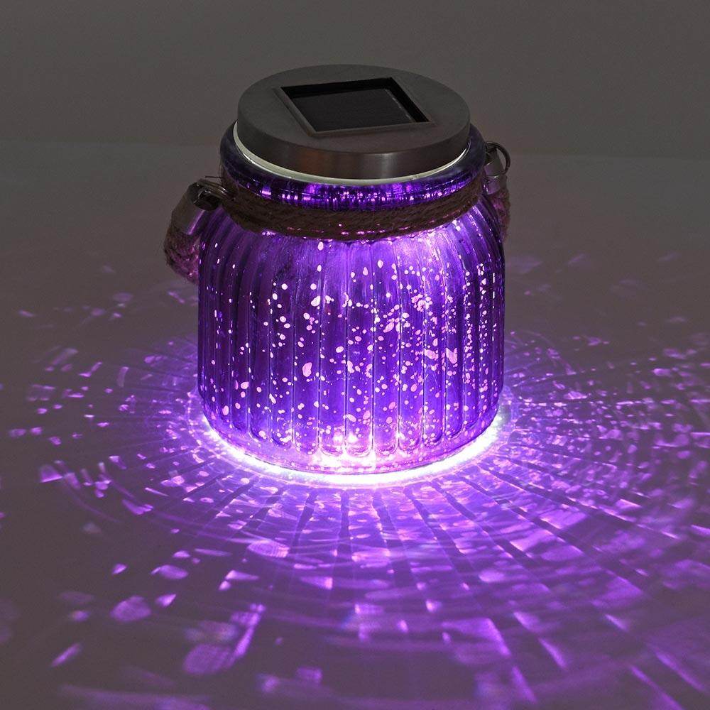 LED Solar Sonnenlichtglas Purpur-Violett 2
