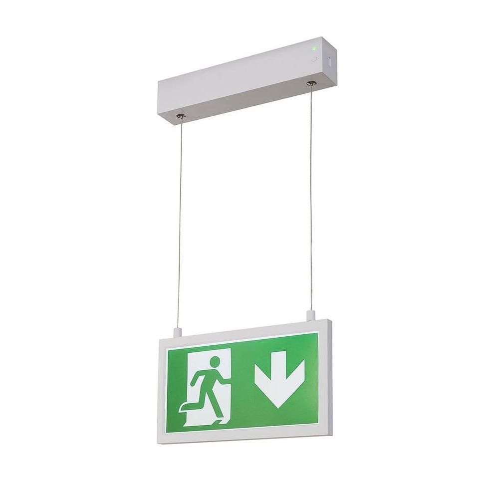 SLV P-Light Emergency Series Exit Sign Small Pendant Weiß 2