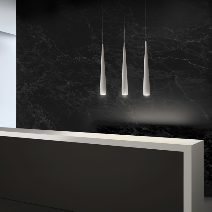 Panzeri Line Metall LED Pendelleuchte konisch thumbnail 3