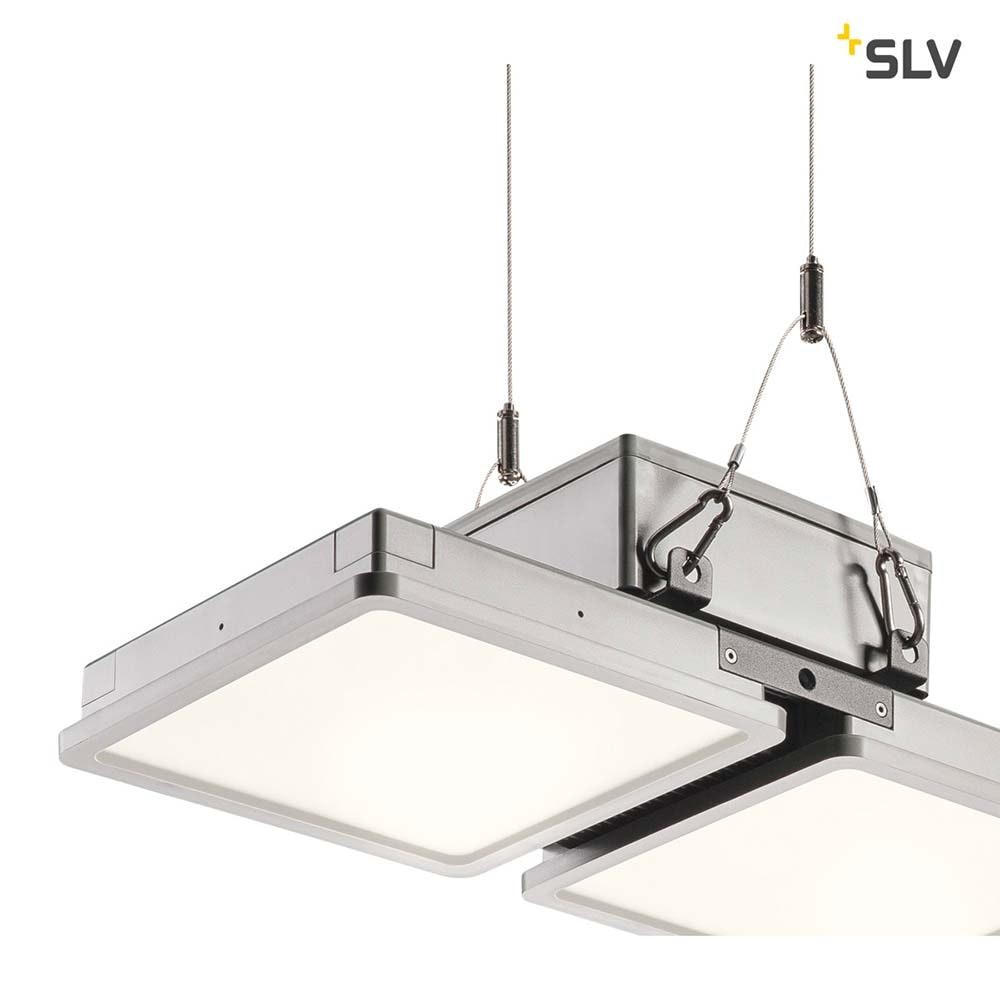 SLV Almino Double LED Aussen-Deckenleuchte Grau IP65 thumbnail 4