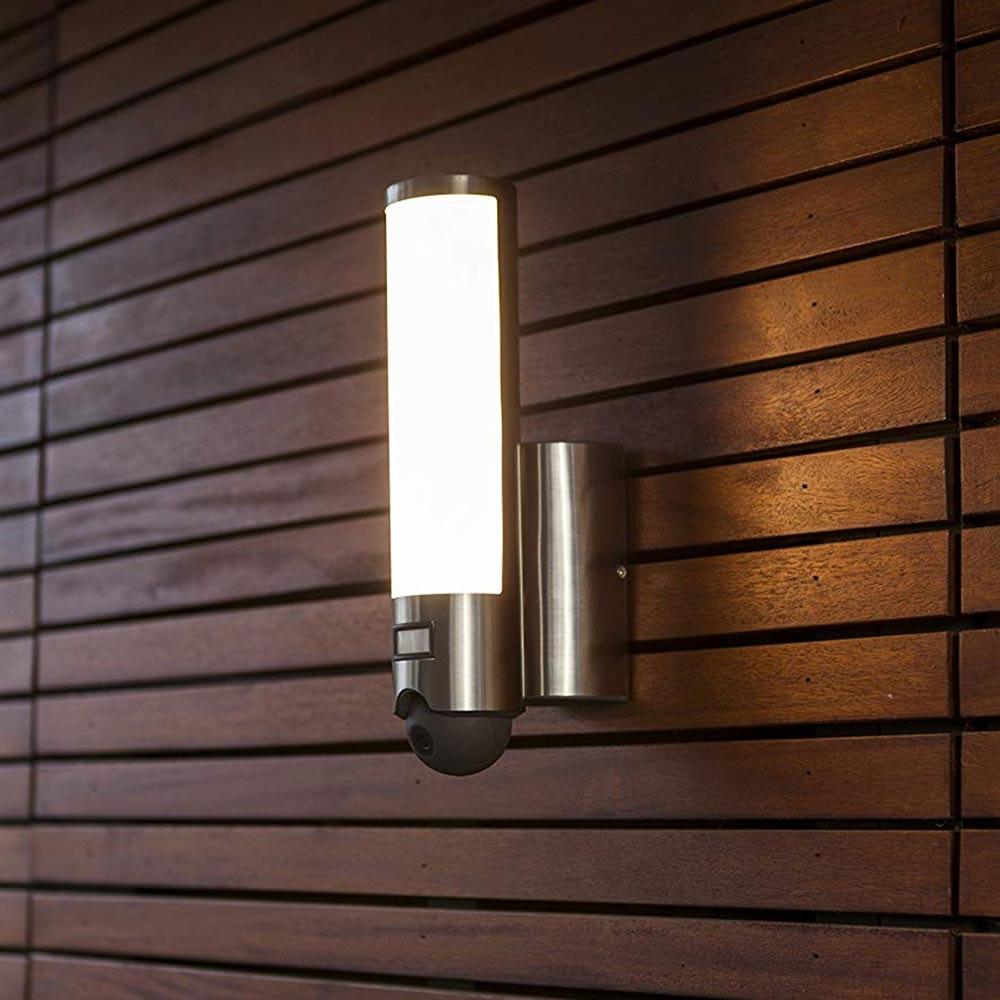 LED Kameraleuchte Elara mit Bewegungsmelder IP44 Edelstahl