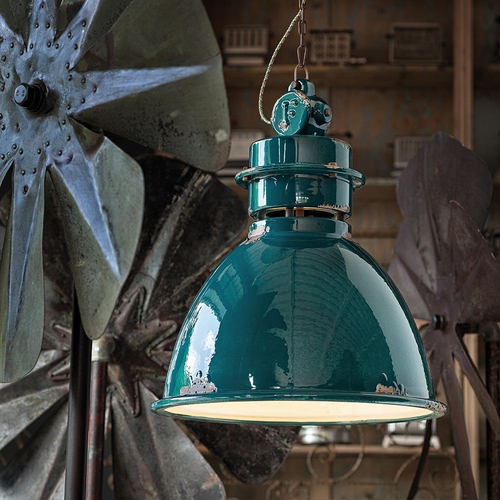 Ferroluce Keramik-Hängeleuchte Industrial thumbnail 3