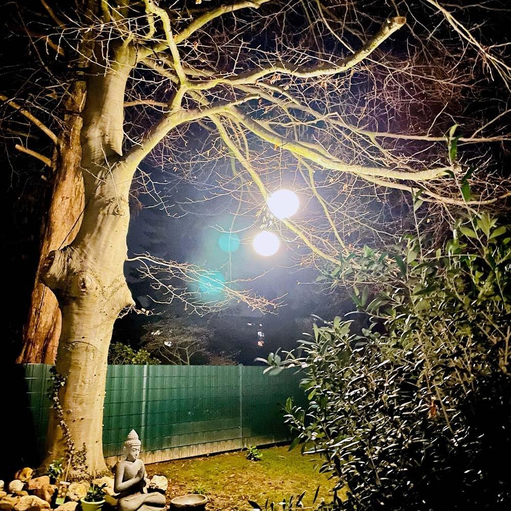 s.LUCE Hänge-Globe Kugellampe mit 15m Kabel IP54 6