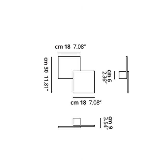 Studio Italia Design Puzzle Double eckig 30cm LED Wand- & Deckenleuchte thumbnail 6