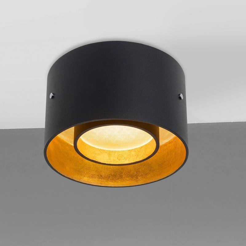 Oligo minimalistische LED Deckenleuchte Trofeo Schwarz, Goldfarben 1