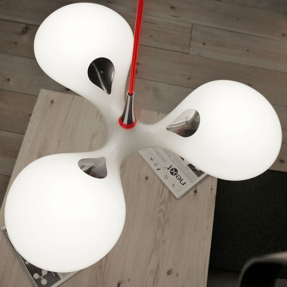LED Pendellampe Enterprise 3-flammig Chrom, Rot, Weiß 8