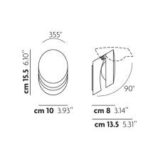 Studio Italia Design Pin-Up LED Wandlampe beweglich 2
